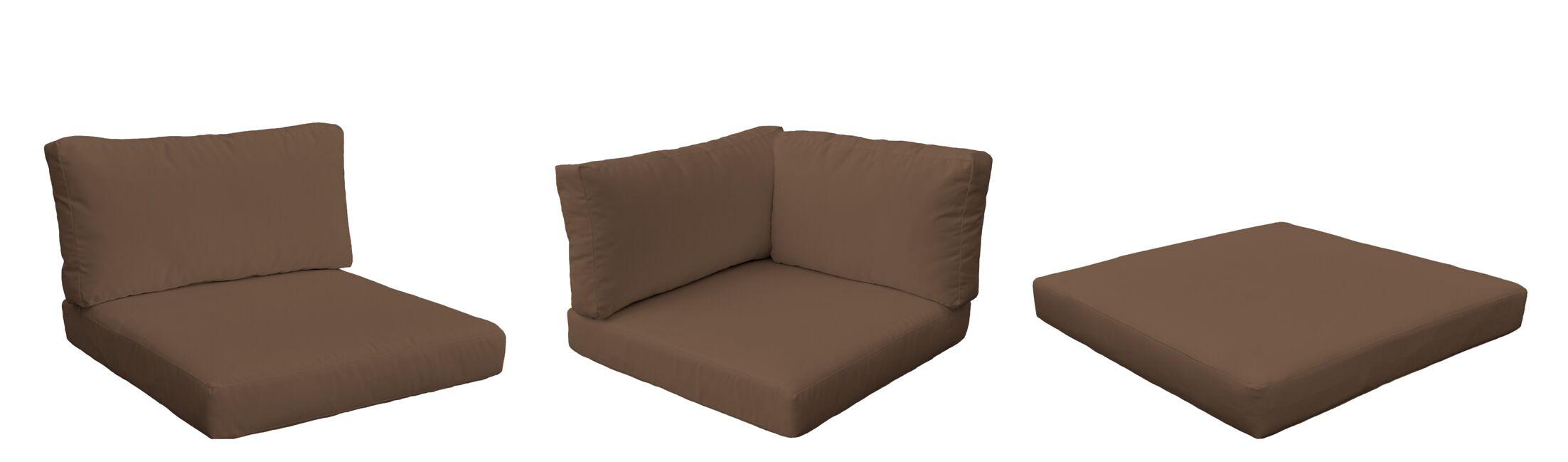Monaco 23 Piece Outdoor Cushion Set Fabric: Cocoa