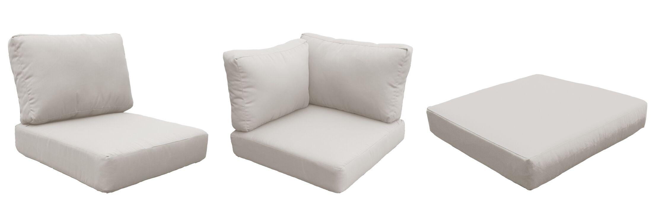 East Village Outdoor 25 Piece Lounge Chair Cushion Set Fabric: Beige