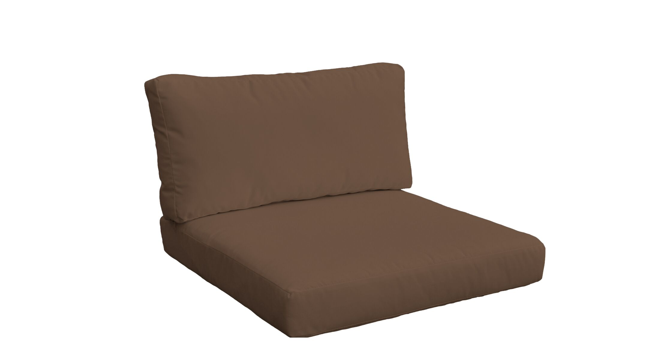 Belle 4 Piece Outdoor Lounge Chair Cushion Set Fabric: Cocoa