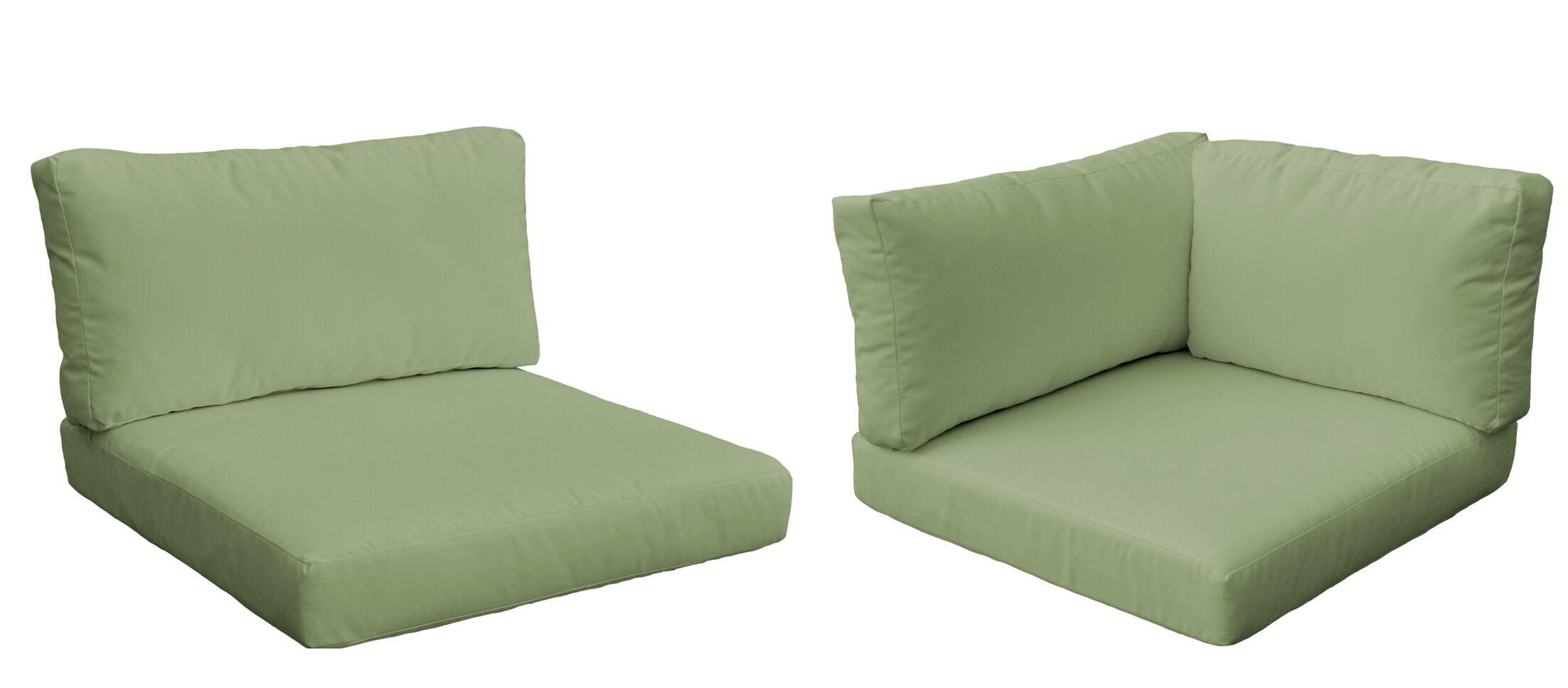 Belle 5 Piece Outdoor Cushion Set Fabric: Cilantro