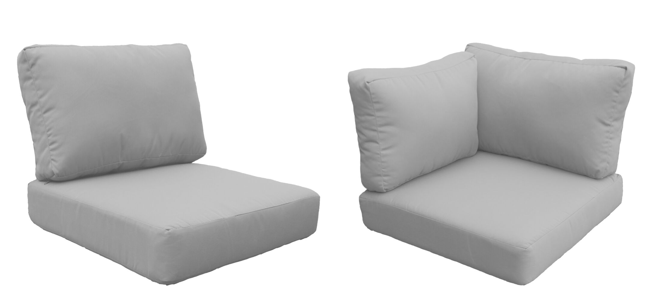 Eldredge 15 Piece Outdoor Cushion Set Fabric: Gray
