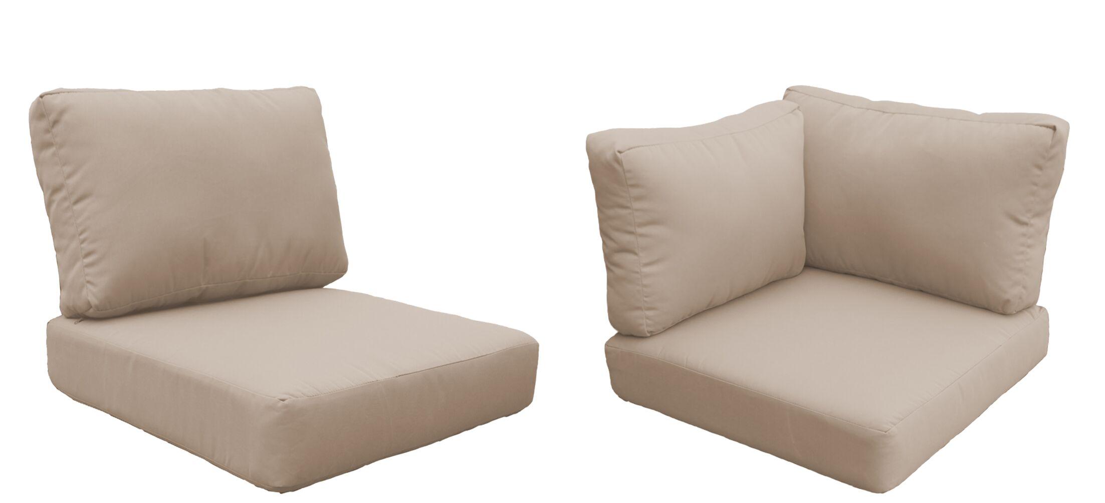 Eldredge 15 Piece Outdoor Cushion Set Fabric: Wheat