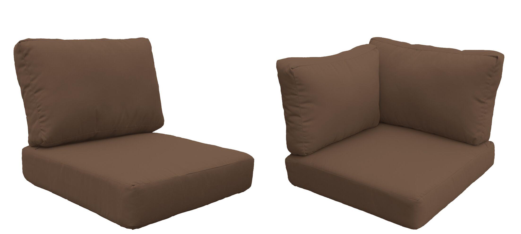 Eldredge 15 Piece Outdoor Cushion Set Fabric: Cocoa