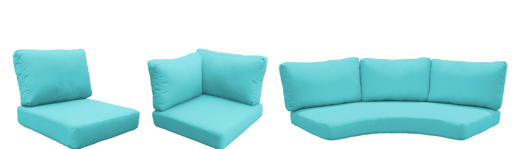 East Village 14 Piece Outdoor Cushion Set Fabric: Aruba