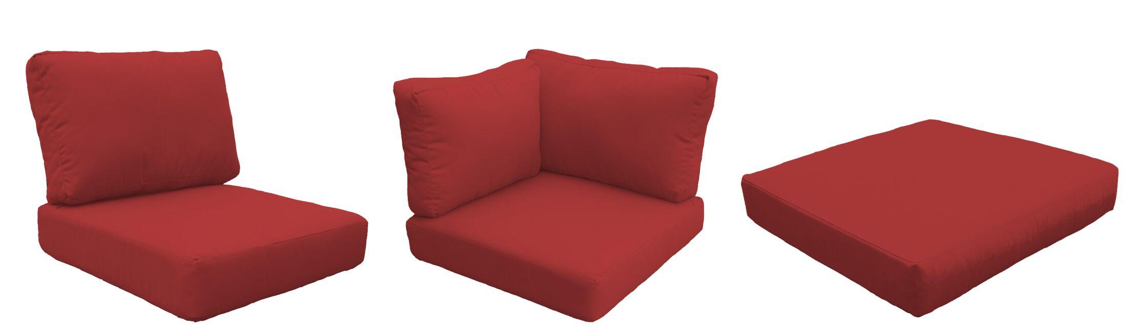 East Village Outdoor 25 Piece Lounge Chair Cushion Set Fabric: Terracotta