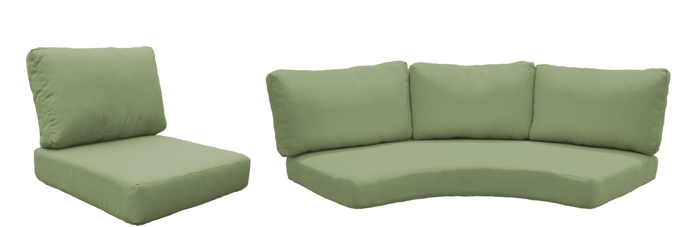 East Village 10 Piece Outdoor Cushion Set Fabric: Cilantro