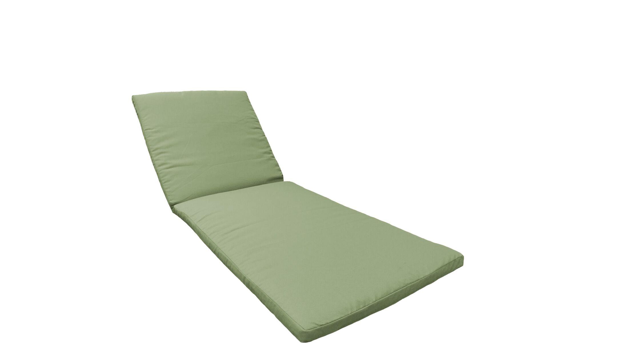 2 Piece Outdoor Chaise Lounge Cushion Set Fabric: Cilantro