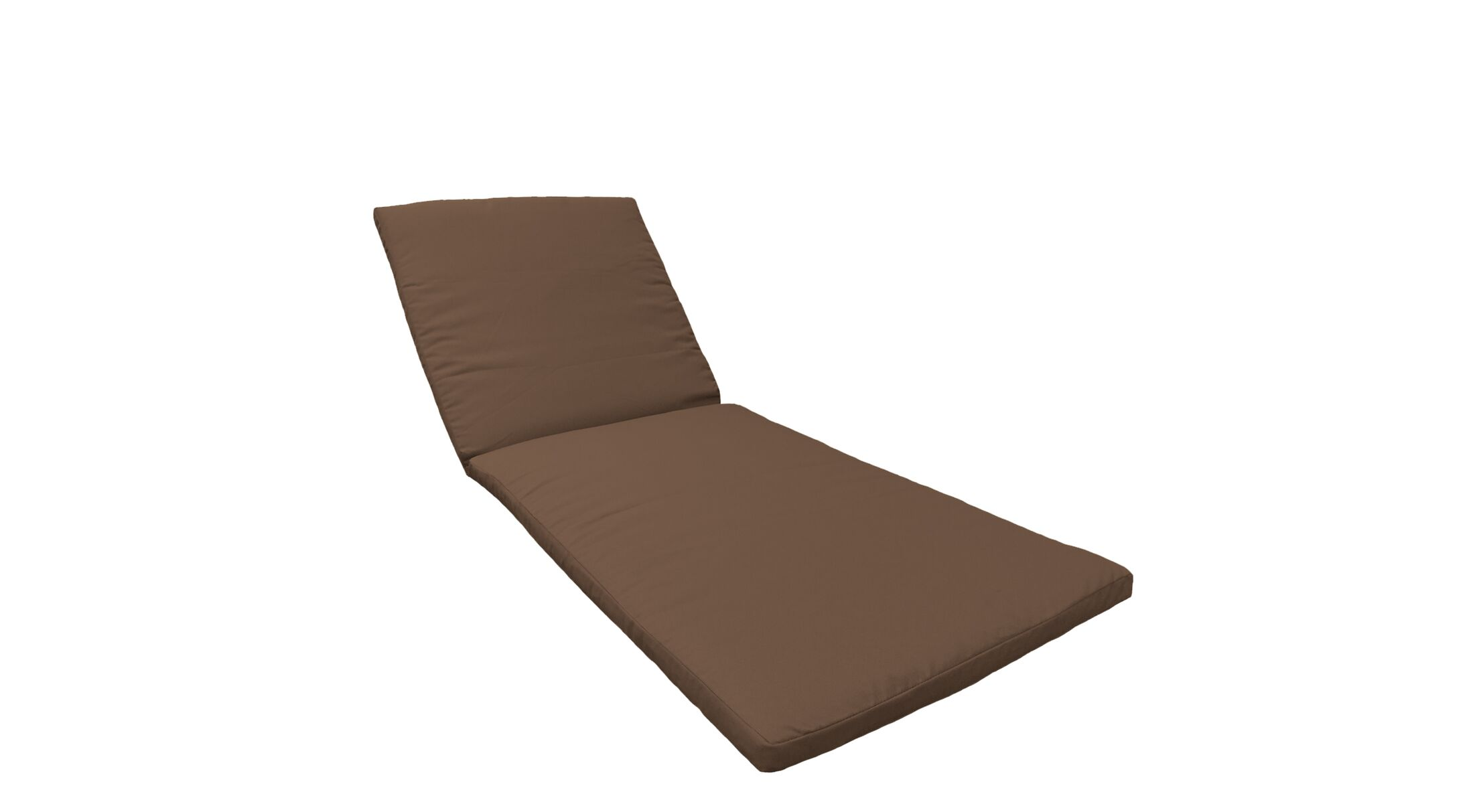 2 Piece Outdoor Chaise Lounge Cushion Set Fabric: Cocoa