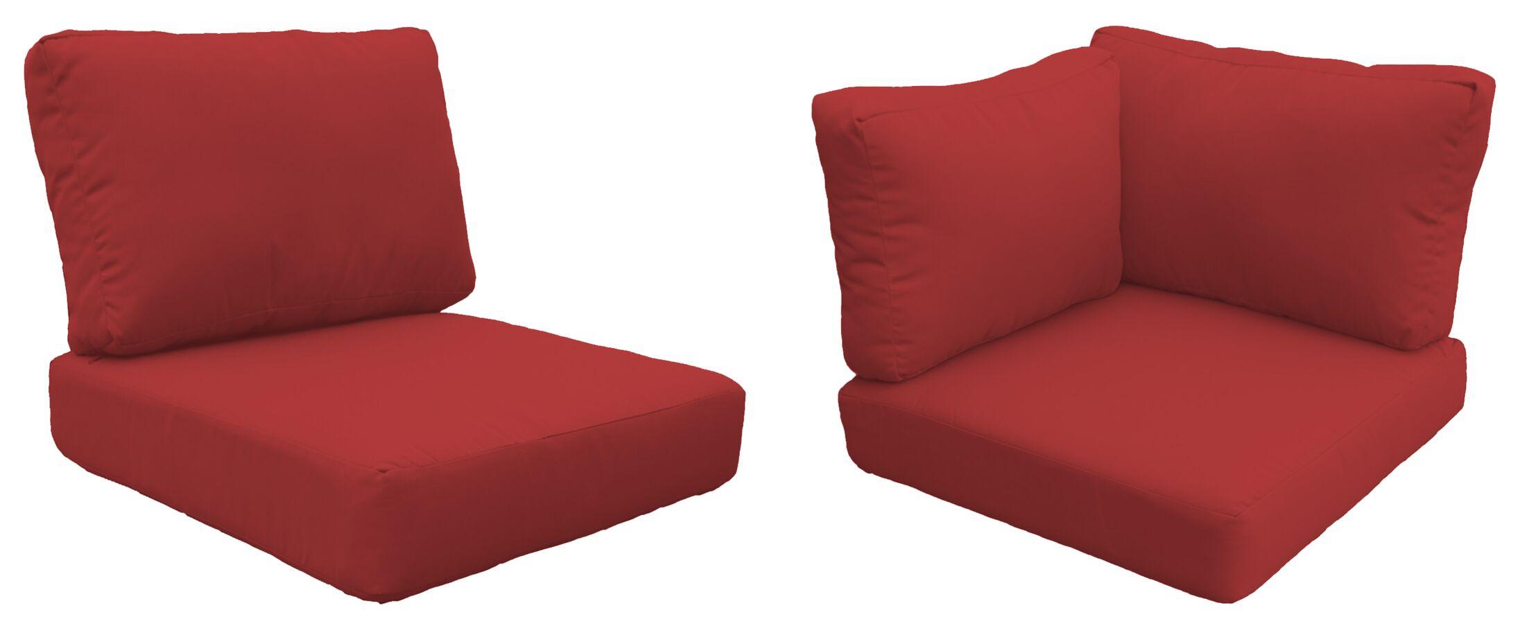 Fairmont 17 Piece Outdoor�Lounge Chair Cushion Set Fabric: Terracotta