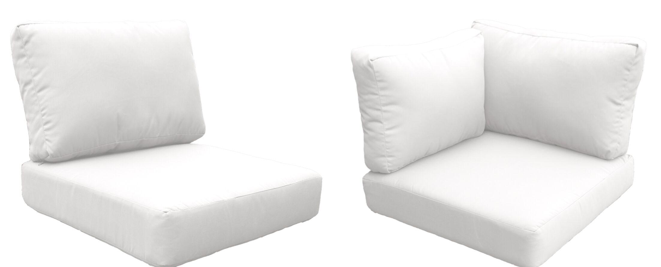 Fairmont 17 Piece Outdoor�Lounge Chair Cushion Set Fabric: White