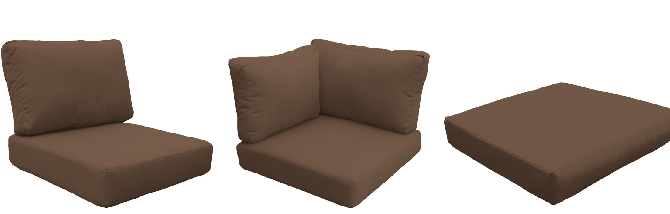 Fairmont Outdoor 20 Piece Lounge Chair Cushion Set Fabric: Cocoa