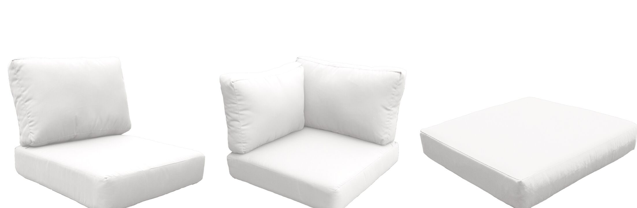 Fairmont Outdoor 20 Piece Lounge Chair Cushion Set Fabric: White