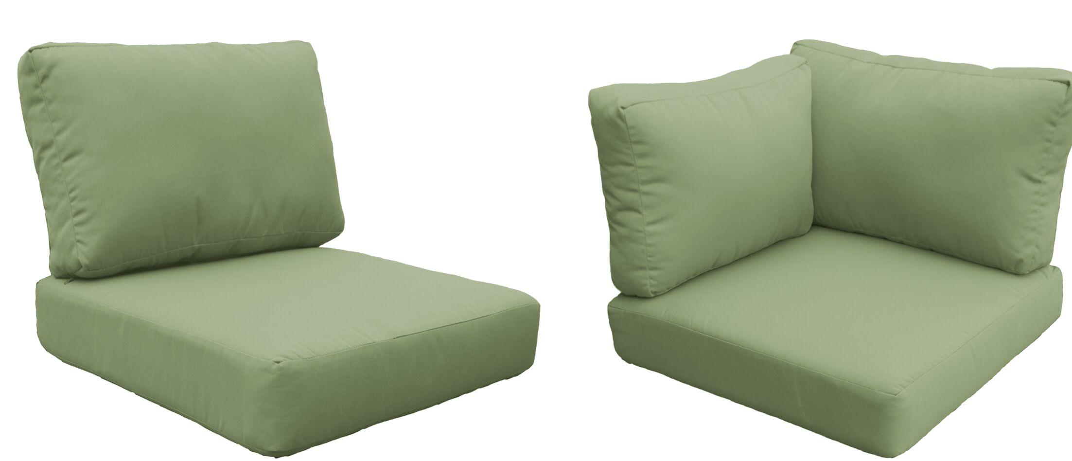 Capecod 17 Piece Outdoor Cushion Set Fabric: Cilantro