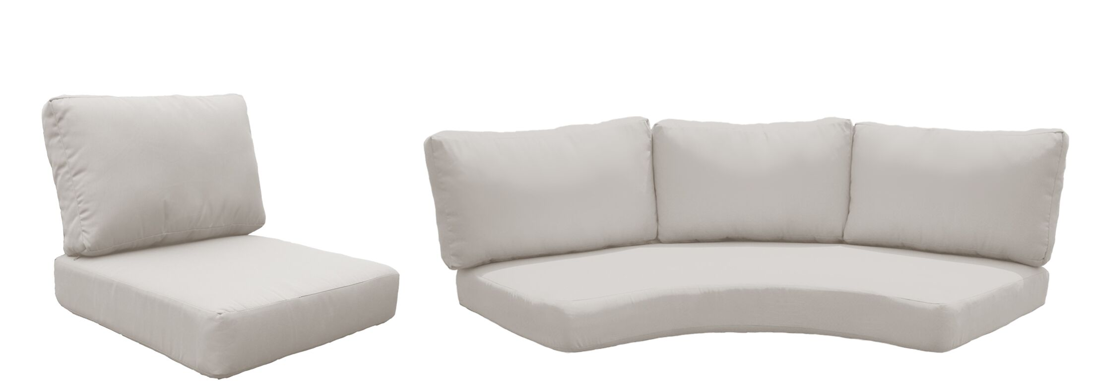 Fairmont 10 Piece Outdoor�Lounge Chair Cushion Set Fabric: Beige