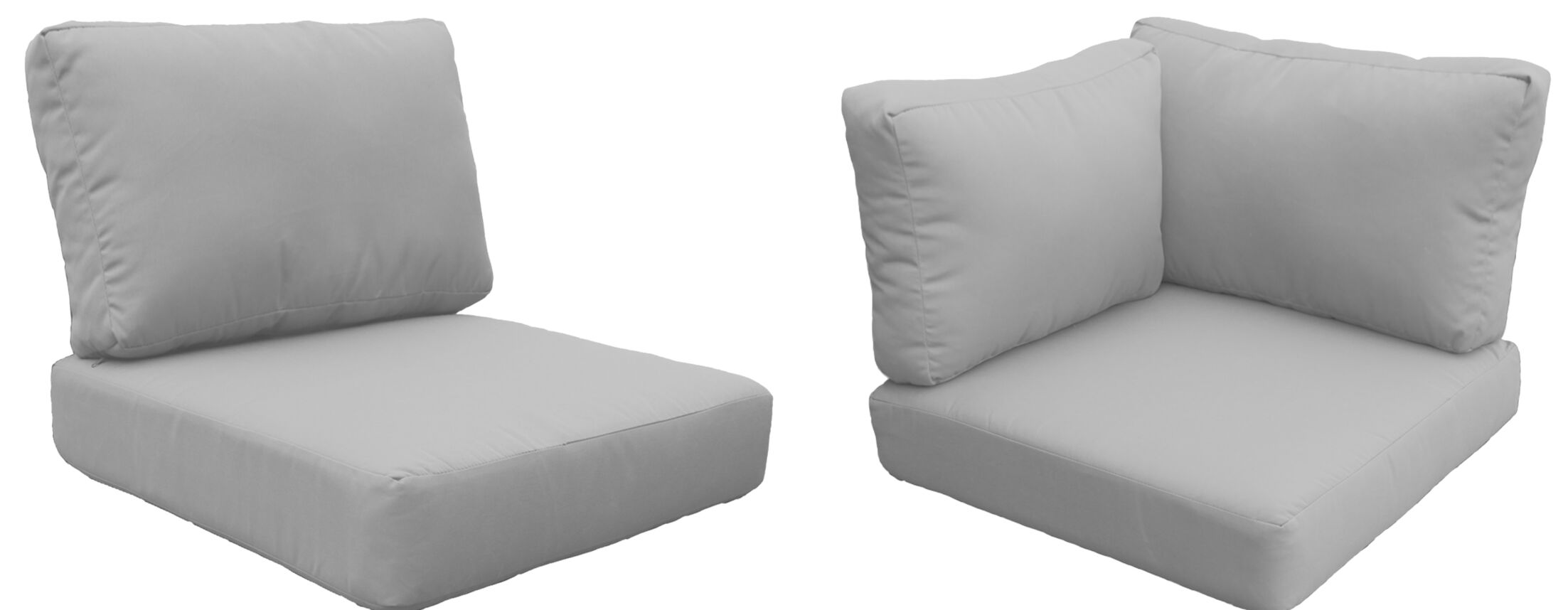 East Village Outdoor 14 Piece Outdoor Cushion Set Fabric: Gray