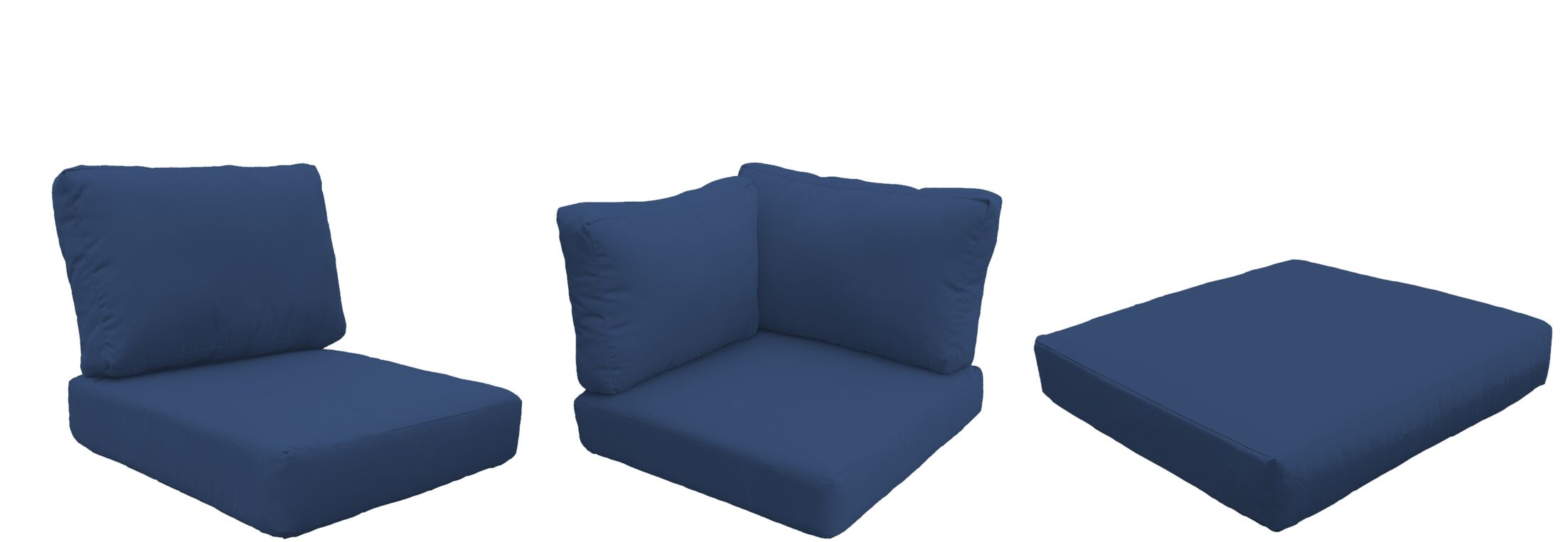Fairmont Outdoor 23 Piece Lounge Chair Cushion Set Fabric: Navy