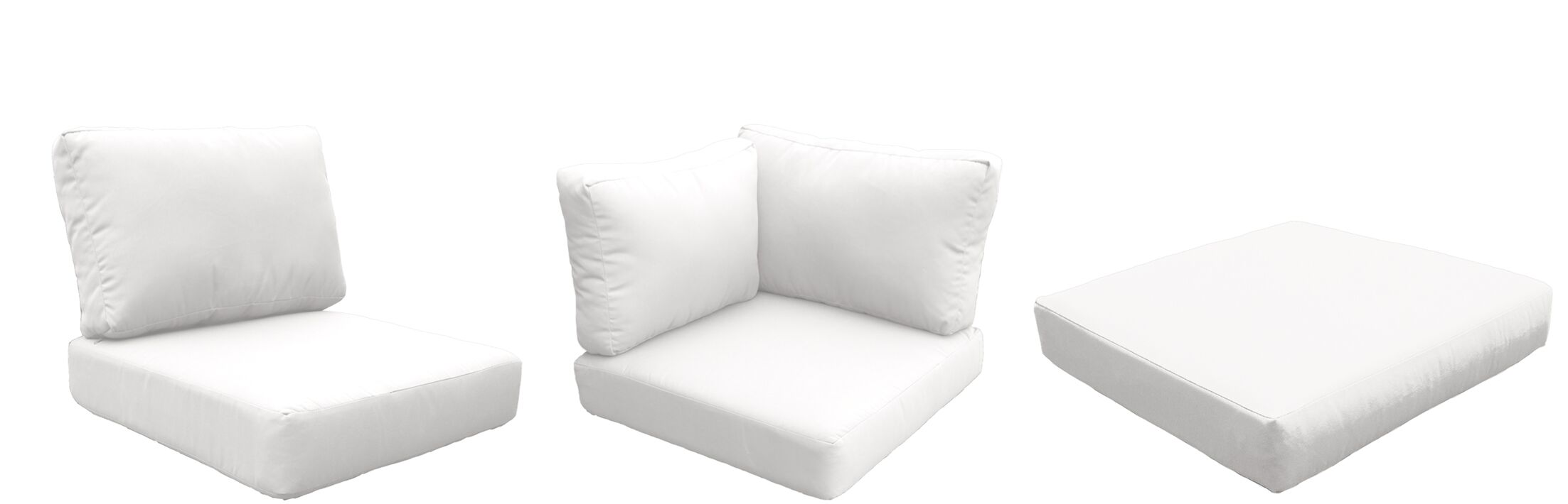 Fairmont Outdoor 23 Piece Lounge Chair Cushion Set Fabric: White