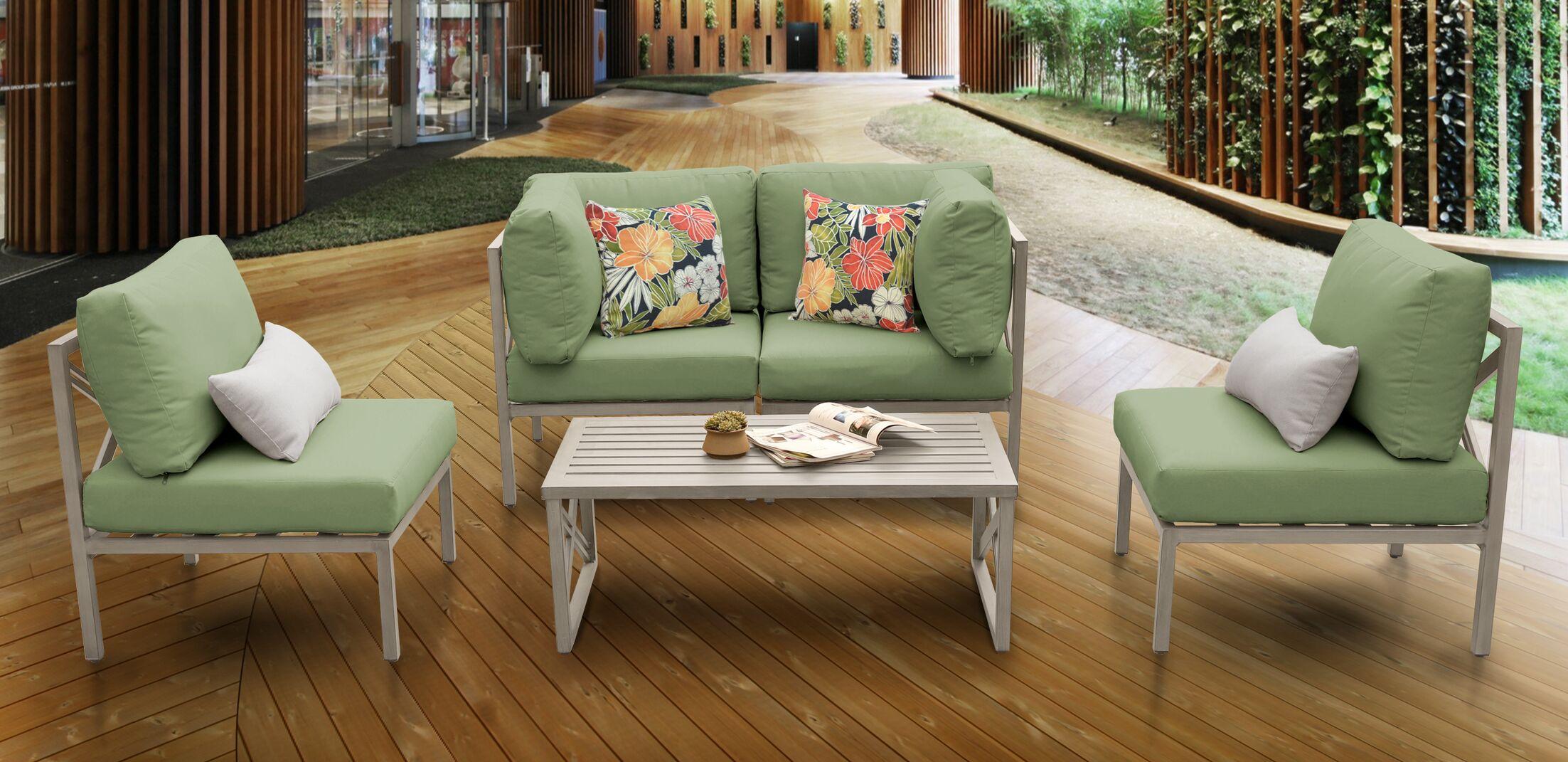 Carlisle 5 Piece Sofa Set with Cushions Cushion Color: Cilantro