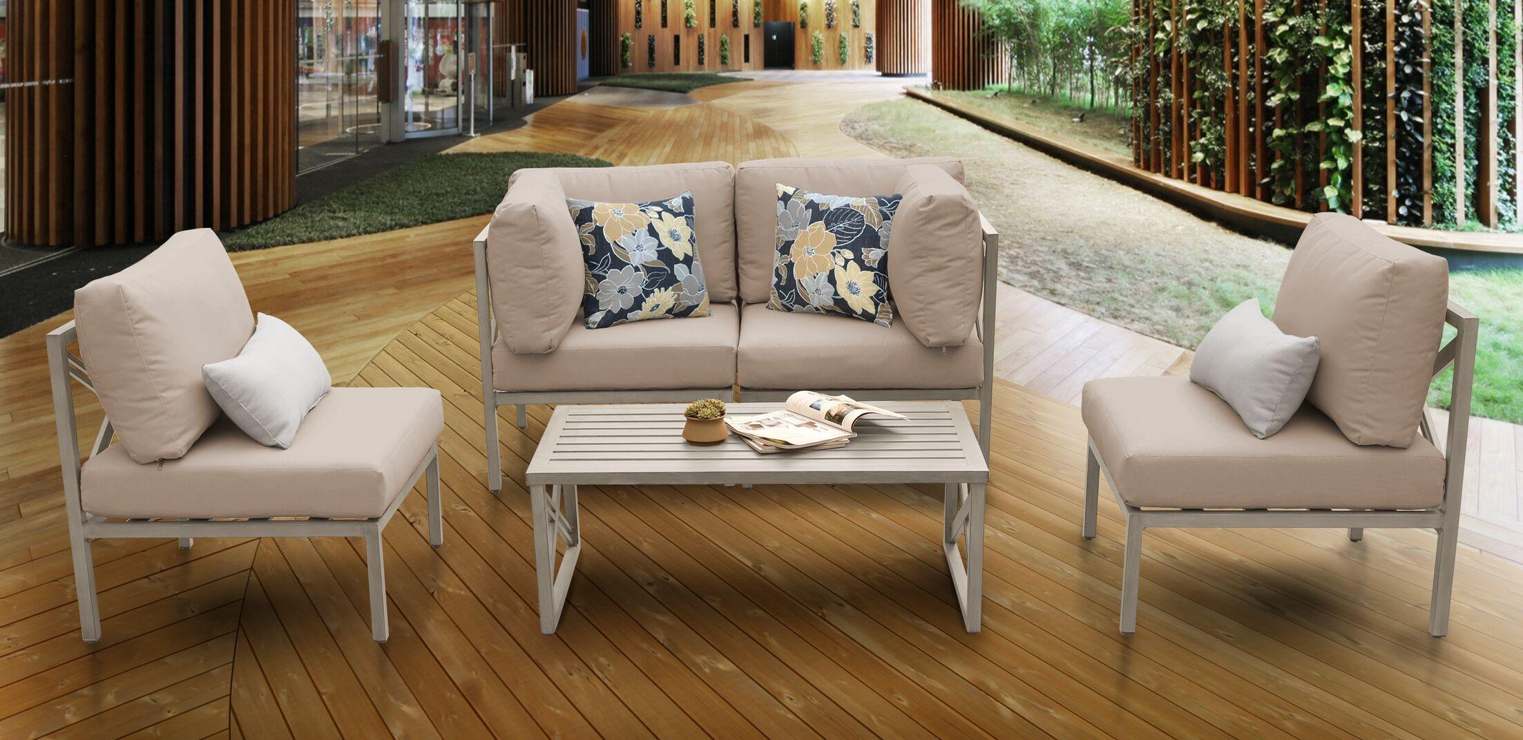 Carlisle 5 Piece Sofa Set with Cushions Cushion Color: Wheat
