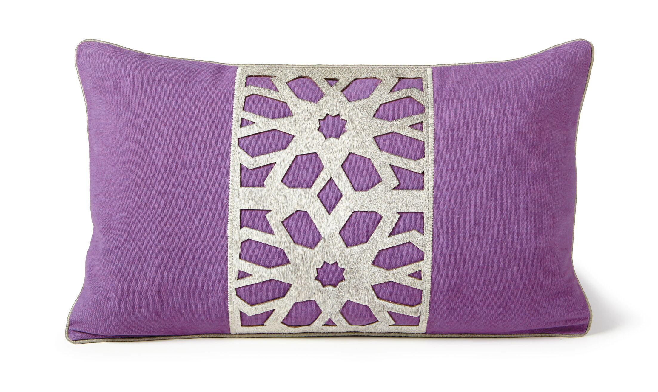 Flower Lumbar Pillow Color: Grape