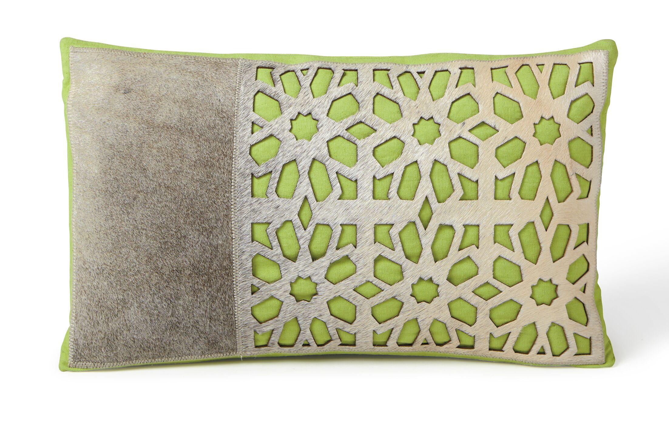 Petal Lumbar Pillow Color: Green