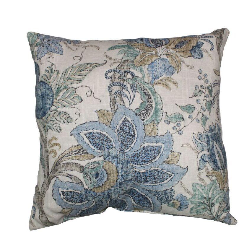 Dartmouth Linen Throw Pillow Color: Chambray