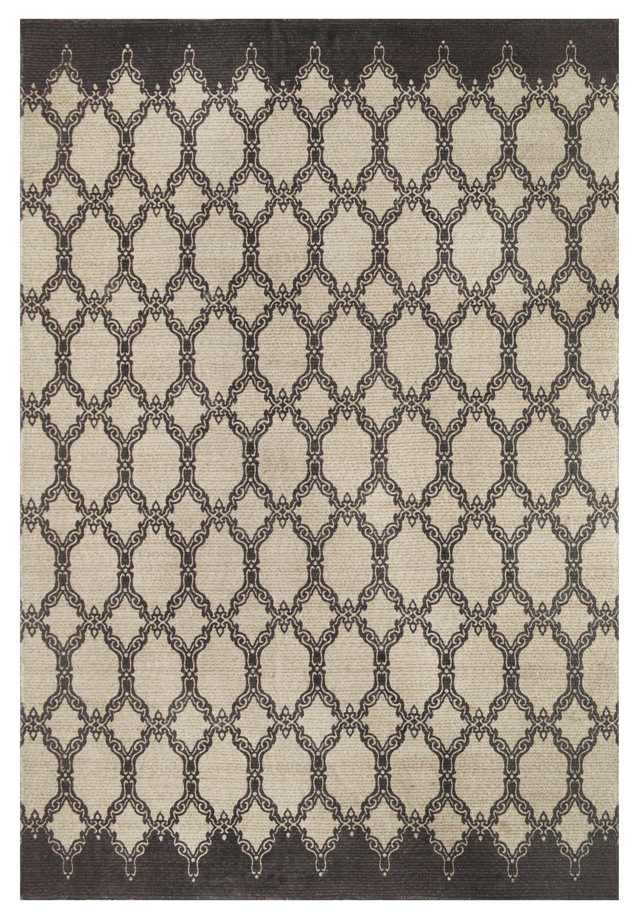 Eastlawn Hand Braided Charcoal Area Rug Rug Size: Rectangle 8' x 10'