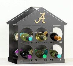 NCAA 6 Bottle Tabletop Wine Rack NCAA Team: University of Alabama