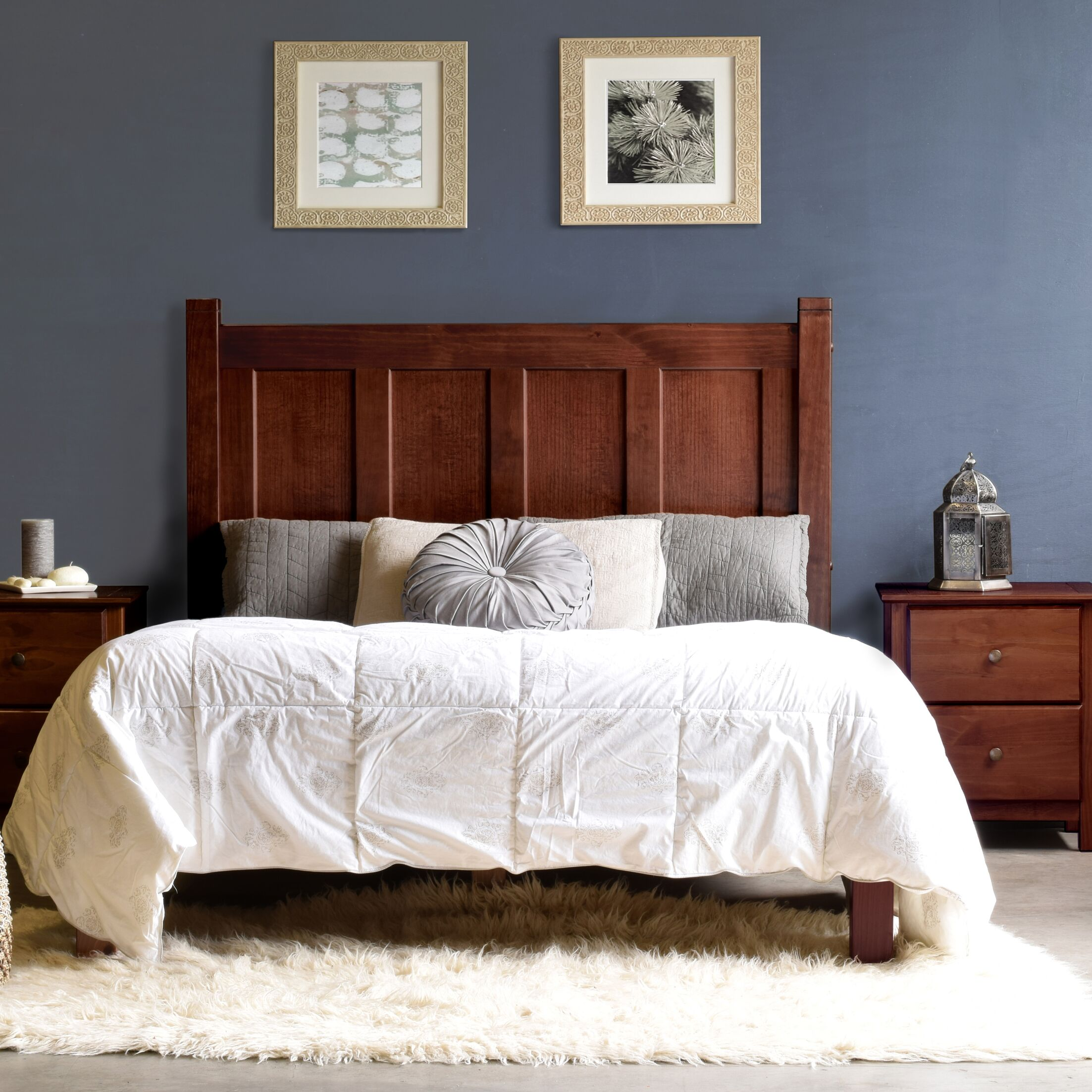 Shaker Platform Bed Color: Cherry, Size: Queen