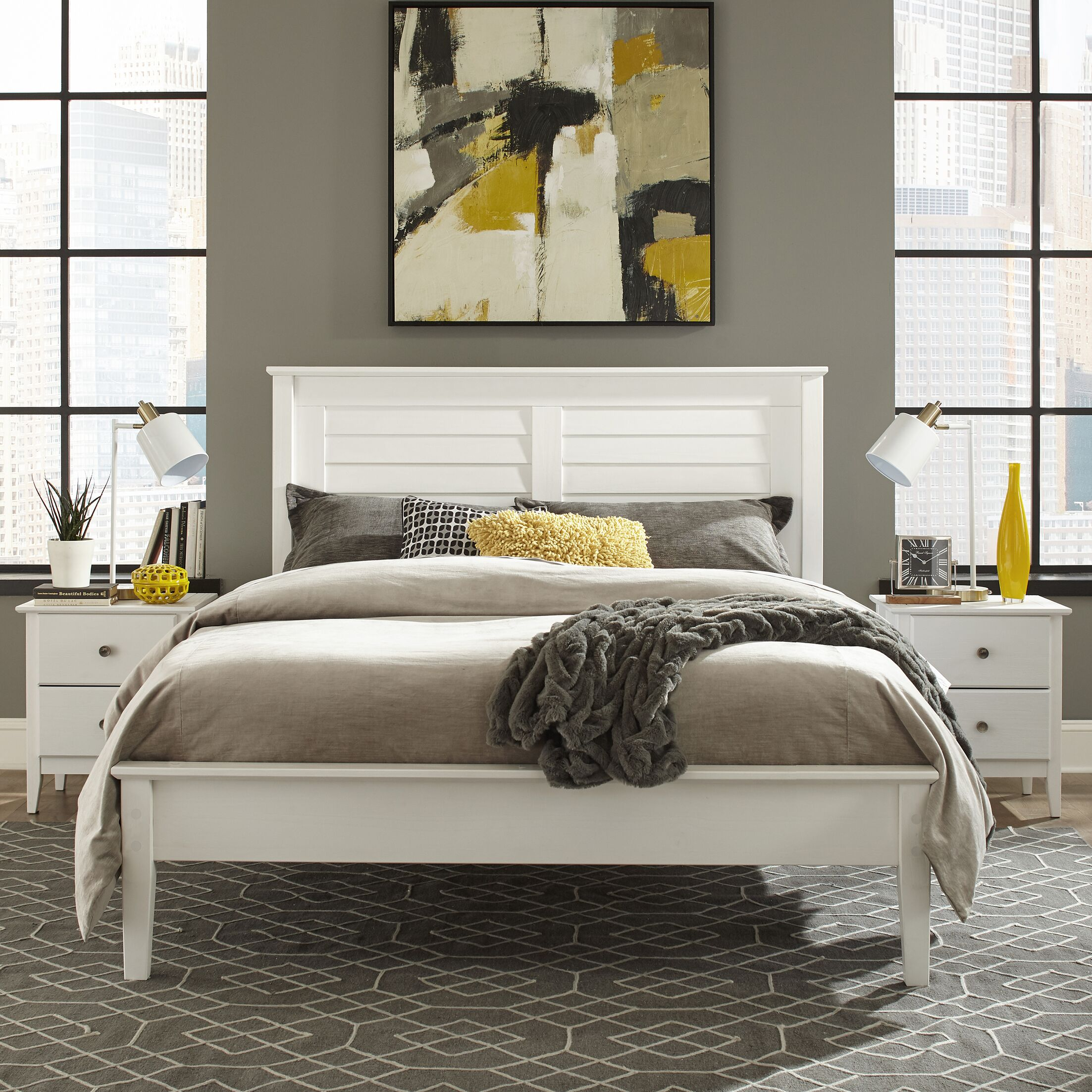 Greenport Queen Platform Bed Finish: Brushed White