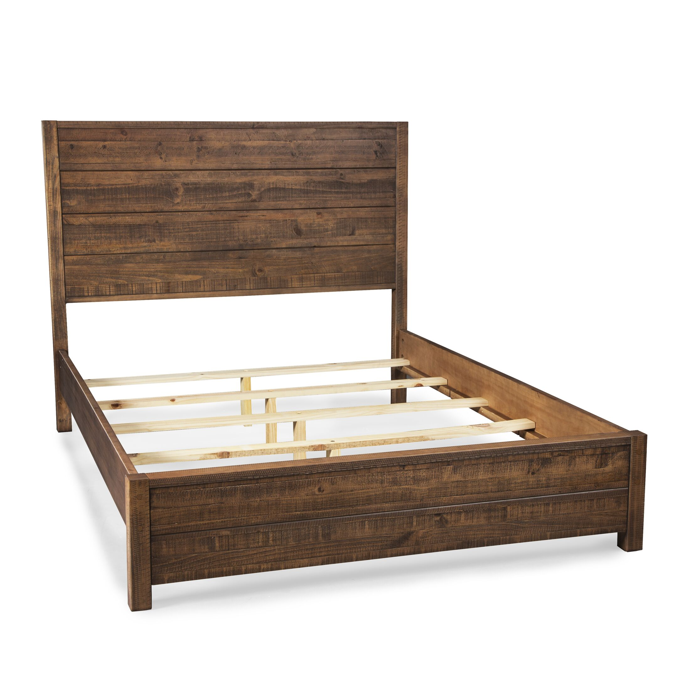 Montauk Panel Bed Size: Full, Color: Rustic Walnut