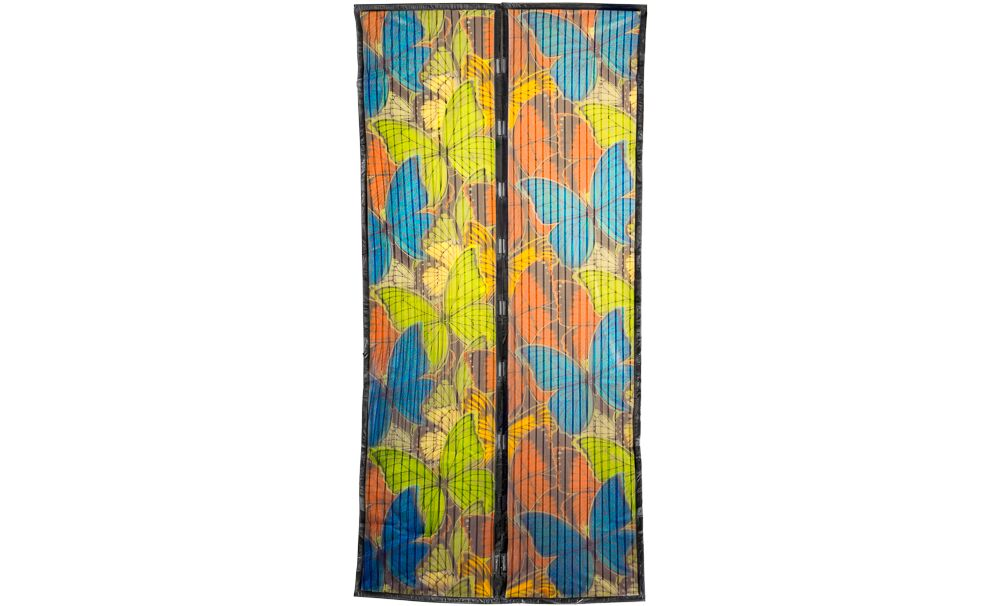 Georgia Magic Mesh Magnetic Screen Door with Butterfly Style Opening Size: 1 Magic Mesh Butterfly Print
