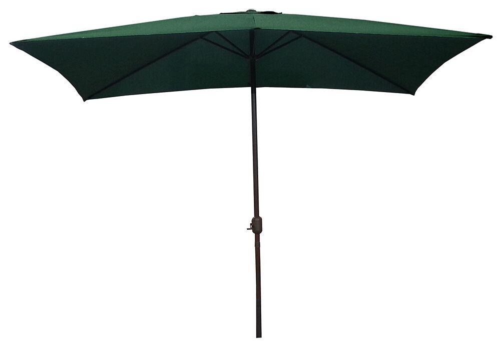 10' X 6.5' Rectangular Market Umbrella Color: Hunter Green