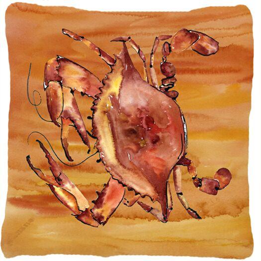 Crab Orange Indoor/Outdoor Throw Pillow