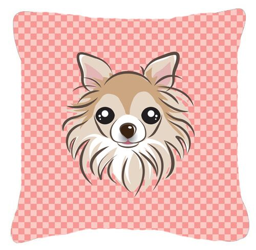 Checkerboard Chihuahua Indoor/Outdoor Throw Pillow Size: 14