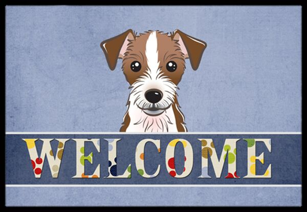 Jack Russell Terrier Welcome Doormat Mat Size: 1'6