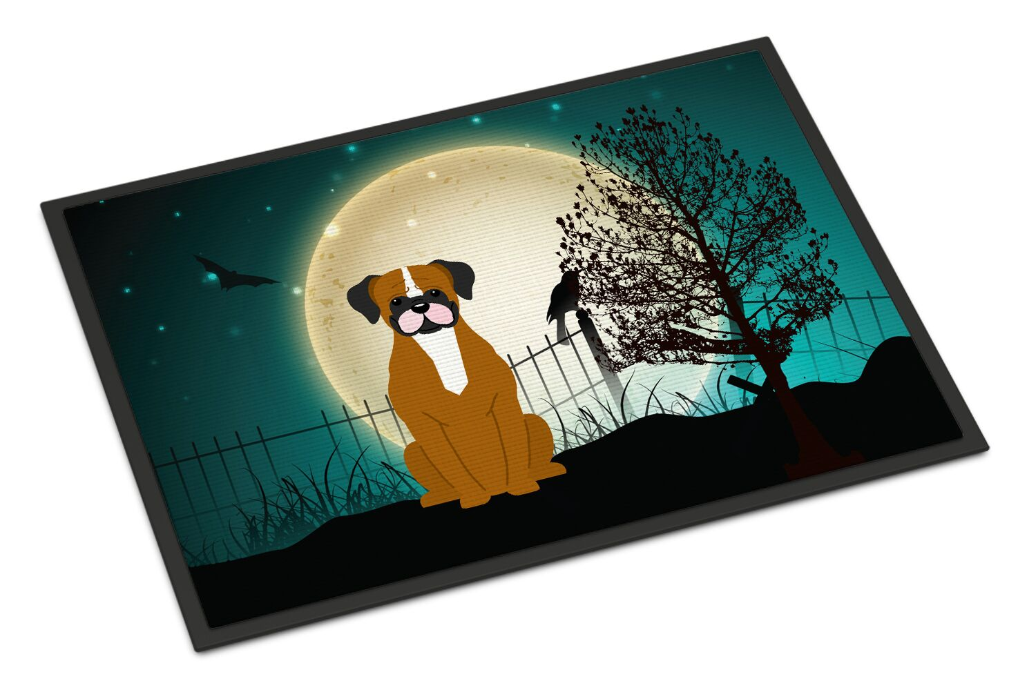 Halloween Scary Flashy Boxer Doormat Mat Size: Rectangle 2' x 3'