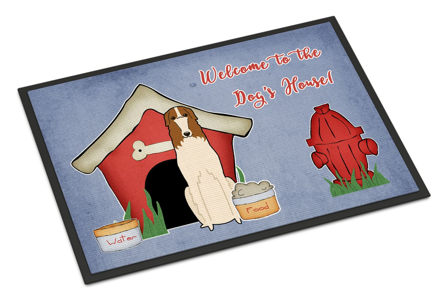 Dog House Borzoi Doormat Mat Size: Rectangle 2' x 3'