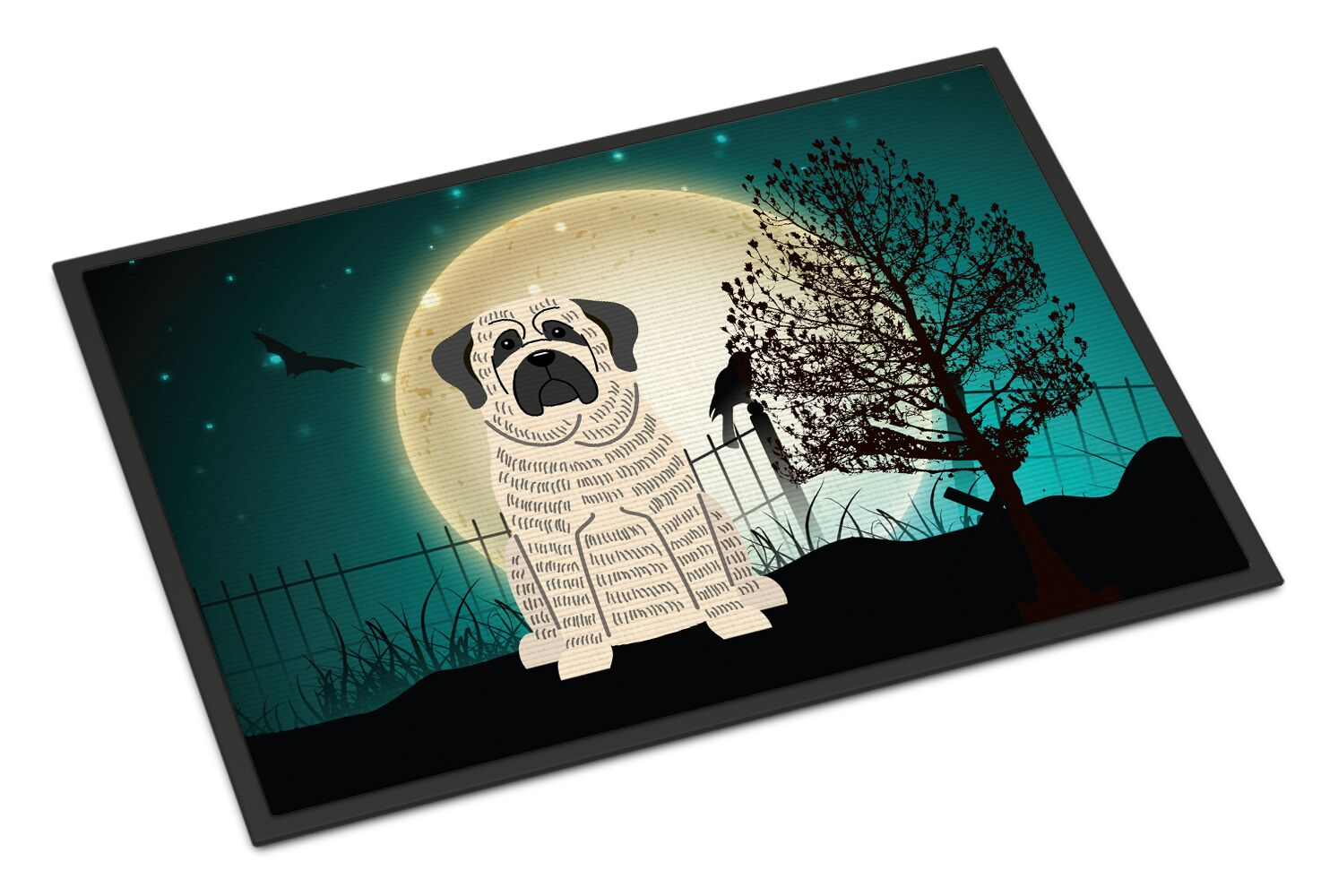 Halloween Scary Mastiff Doormat Mat Size: Rectangle 1'6