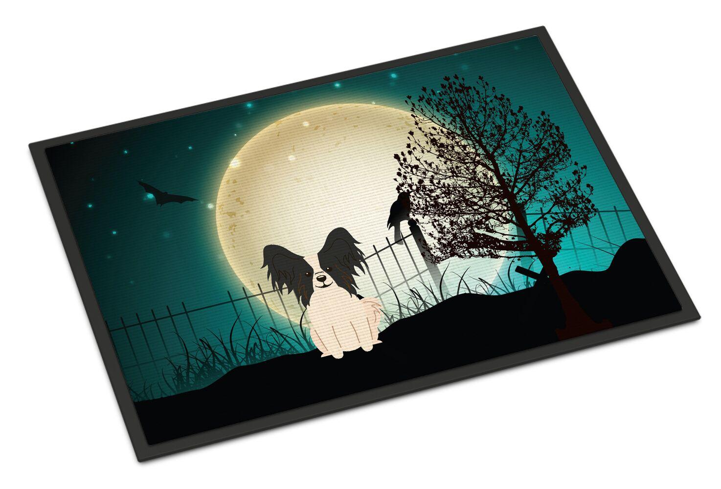 Halloween Scary Papillon Doormat Color: Black/White, Mat Size: Rectangle 2' x 3'
