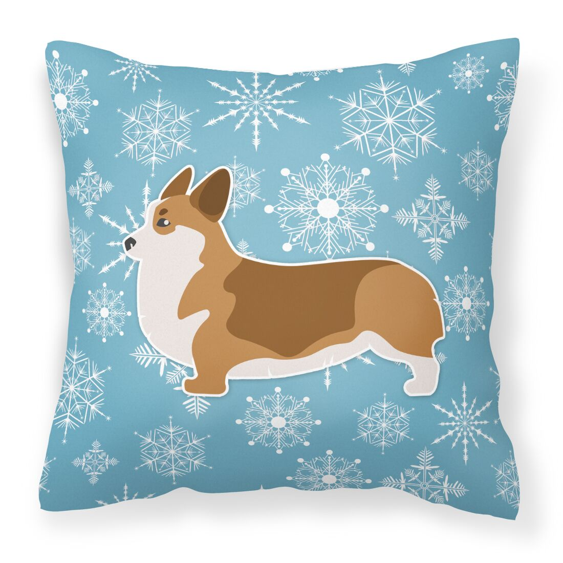 Winter Snowflakes Indoor/Outdoor Throw Pillow Size: 14