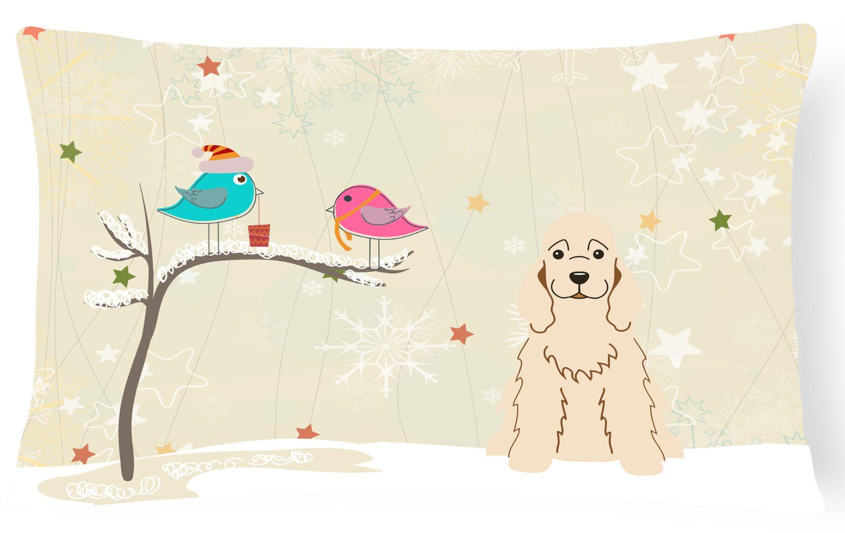 Christmas Neutral Indoor/Outdoor Lumbar Pillow Color: Buff