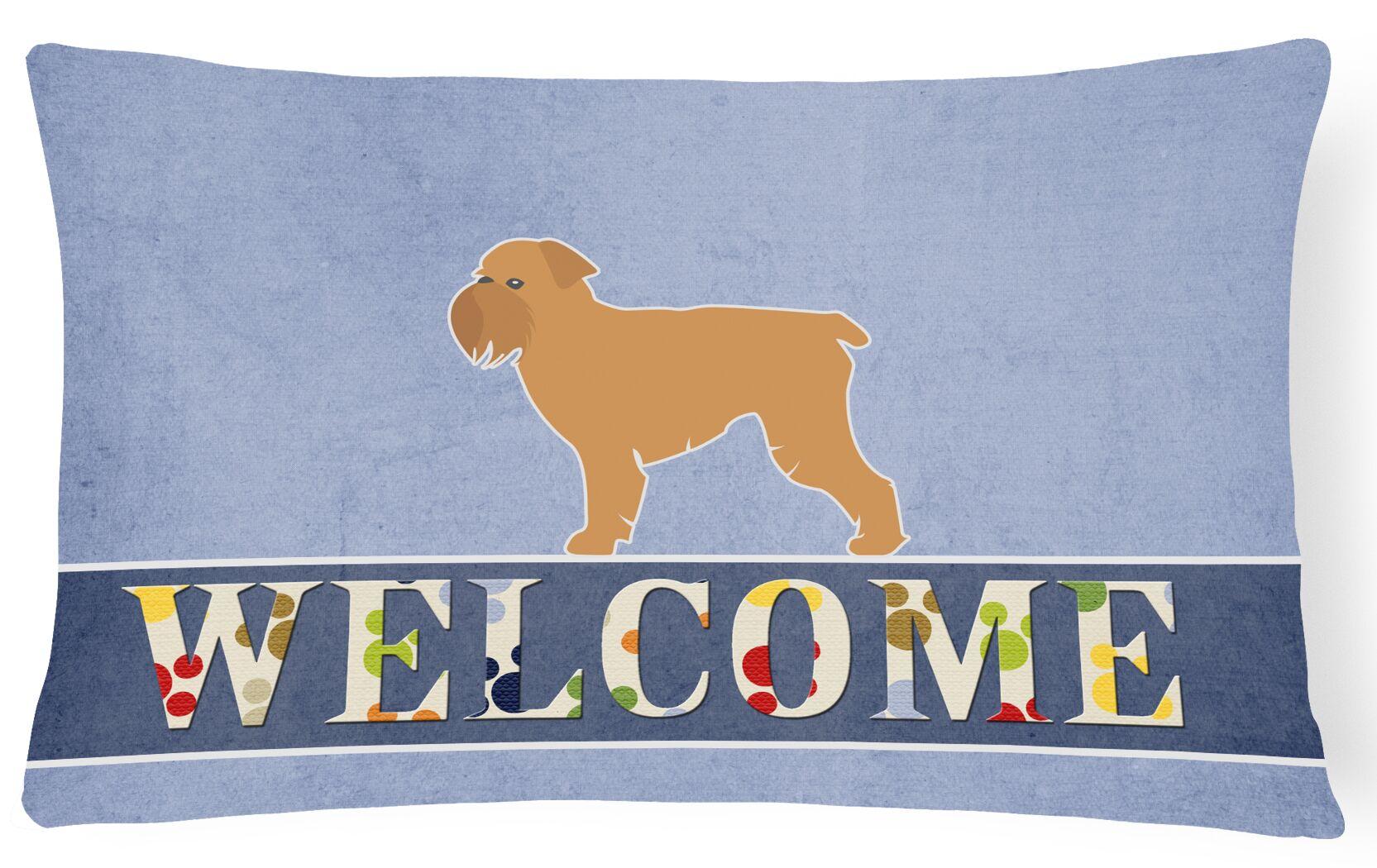 Dunning Brussels Griffon Welcome Lumbar Pillow