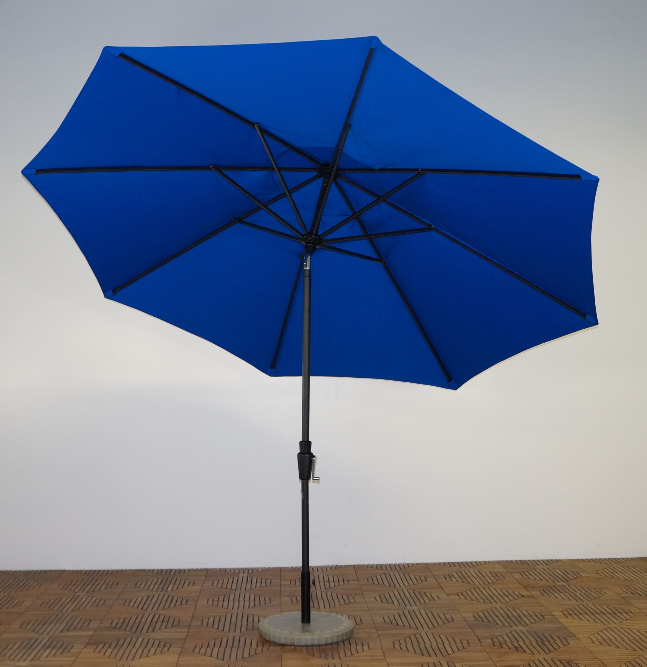 11' Market Umbrella Fabric: Pacific Blue, Frame Finish: Licorice