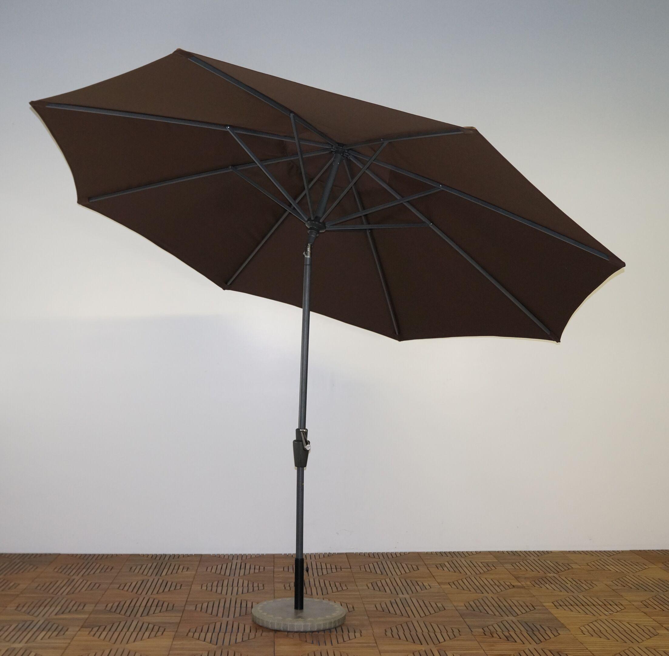 11' Market Umbrella Frame Finish: Durango, Fabric: Kona Brown
