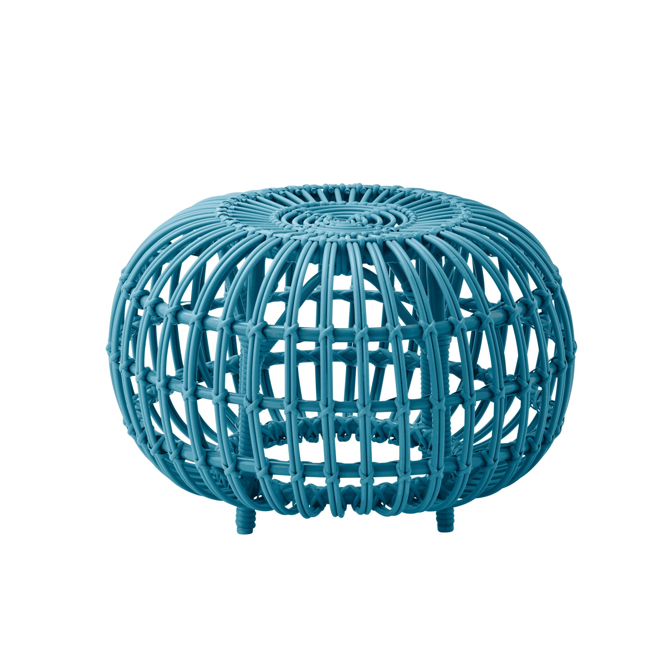 Pinesdale Outdoor Ottoman Finish: Blue