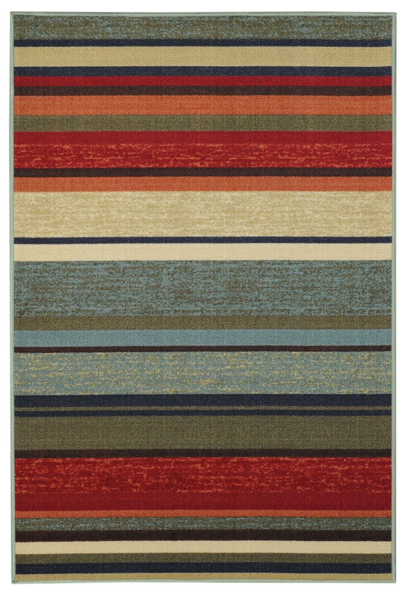 Beauchamp Square Green/Red Area Rug Rug Size: 3'3