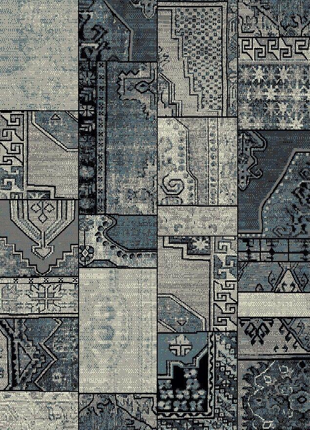 Marana Anti-Bacterial Gray/Blue Indoor/Outdoor Area Rug Rug Size: 8' x 10'