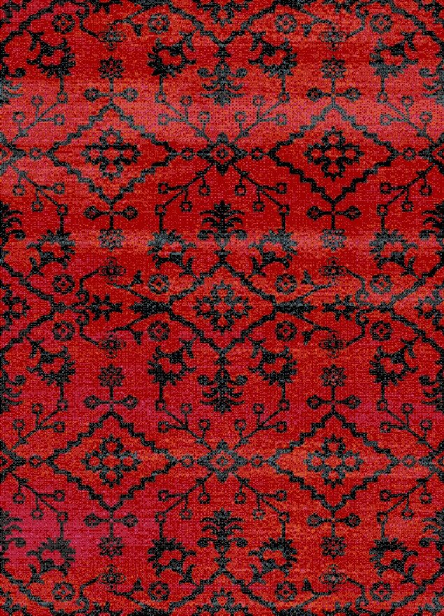Auston Anti-Bacterial Red/Black Indoor/Outdoor Area Rug Rug Size: 8' x 10'