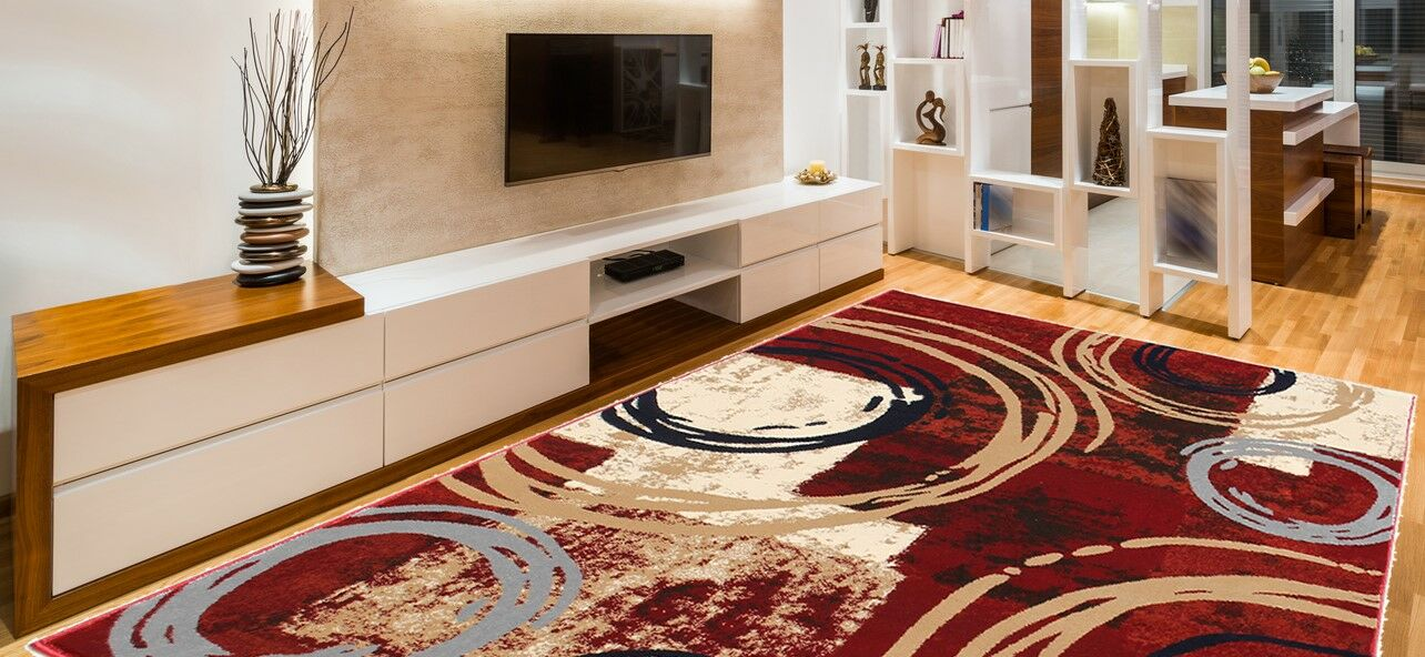 Knowland Decorative Modern Contemporary Southwestern Red/Beige Area Rug Rug Size: 8' x 10'
